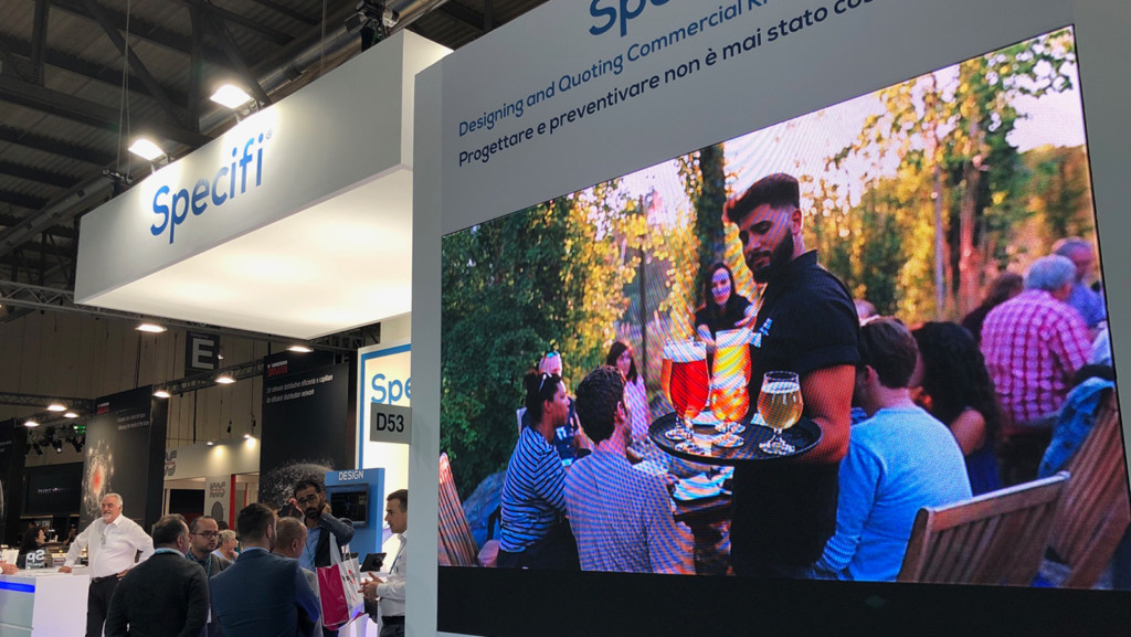The Specifi Stand had a video wall