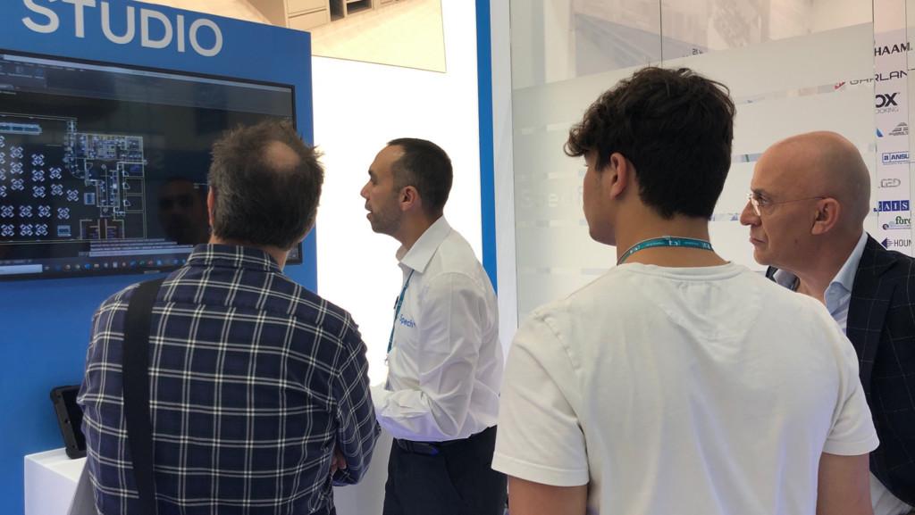 Specifi's Massimiliano Rizzetto with customers